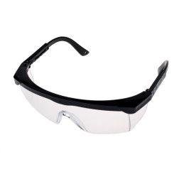 128016 Apsauginiai akiniai skaidrūs / juod. kojel.