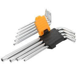 Šešiakampių raktų kompl. 9vnt. T10-T50 20056 / Tol