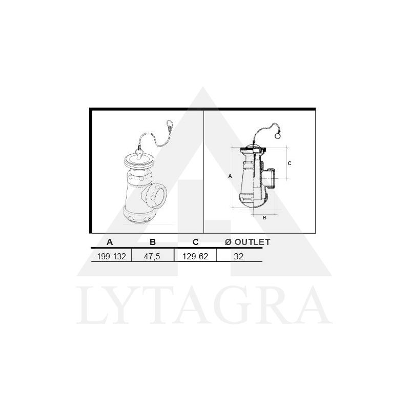 SIFONAS 11/4x63 (04036) SU TERŠALŲ RINKTUVU BIDE