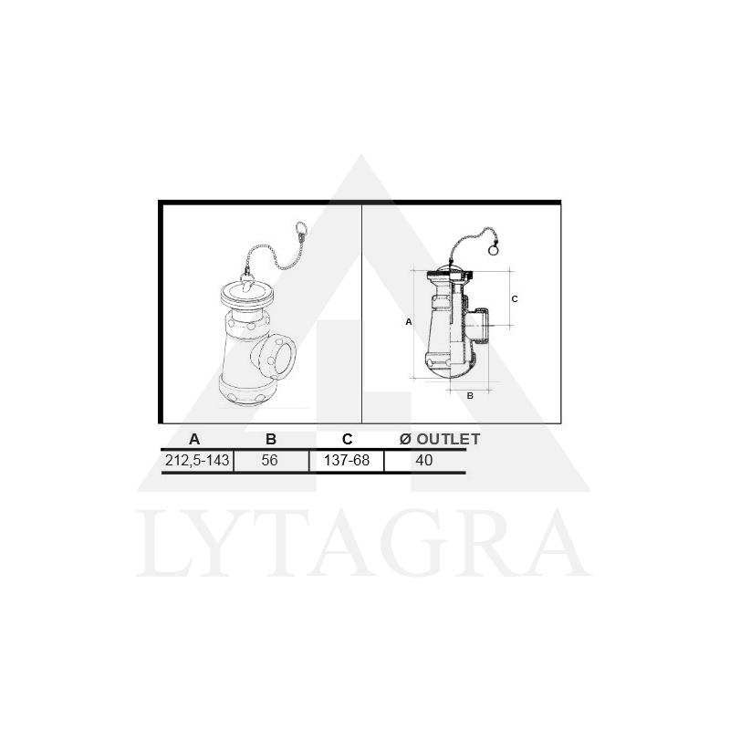 SIFONAS 11/2x63 (04068) SU TERŠALŲ RINKTUVU BIDE