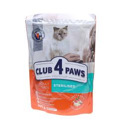 CLUB4L ėdalas sterilizuotoms katėms 300 g