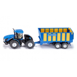 Modeliukas traktorius su priekaba NEW HOLLAND