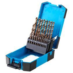 Metalo grąžtų komplektas Schmith SQWCO-01, DIN338 HSS-Co 19vnt.