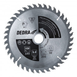 Diskinis pjūklas medžiui su kietm. Dedra H19040D 40d. 190x30mm