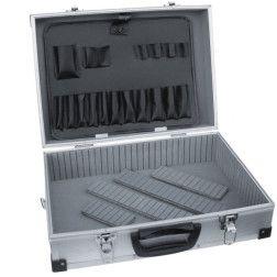 Dėžė įrankiams Dedra N0001 aliumininė 460x325x150mm sidabrinė