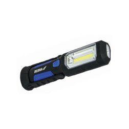 Akumuliatorinis prožektorius Dedra L1022 3W COB LED + 1W LED, įkroviklis USB 230V ir 12V