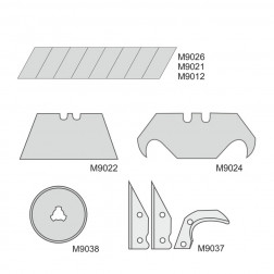 Atsarginės gelęžtės Dedra M9012 25mm 10 vnt