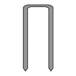 Segtukai metaliniai Dedra A536125 25mm 5,7mm TYPE90 5000vnt