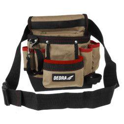 Dėklas įrankiams su diržu Dedra N0032, 8 kišenės 20x10x30