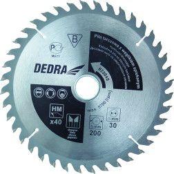 Diskinis pjūklas medžiui Dedra H16024D su kietm. 24D