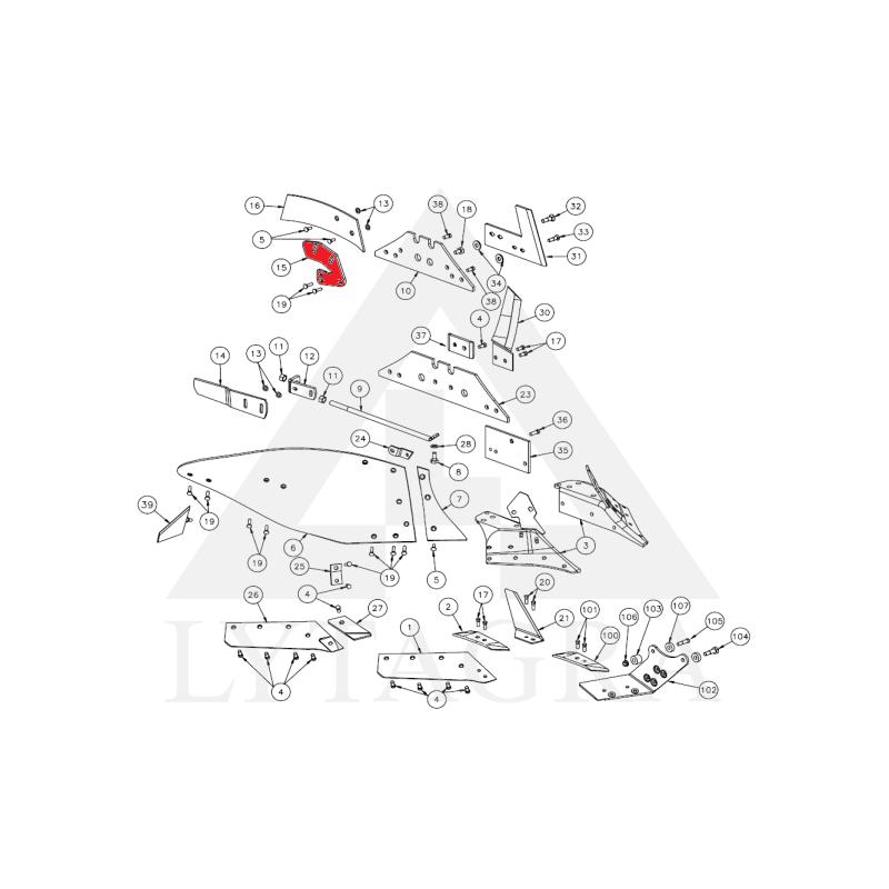 073311 Kamporaižio laikiklis Kverneland