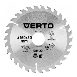 Pjovimo diskas 160 x 20 mm, 30 d. medienai