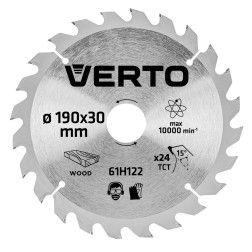 Pjovimo diskas 190 x 30 mm, 24 d. medienai