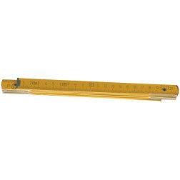 Metras medinis 1 m., sulankstomas, geltonas
