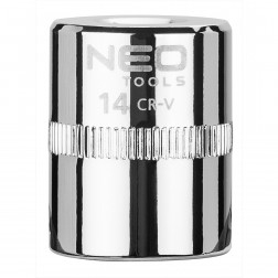 """Galvutė šešiakampė 1/4"""", 14 mm., Neo"""