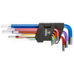 Šešiakampiai raktai, 1.5-10 mm spalvoti 9 vnt