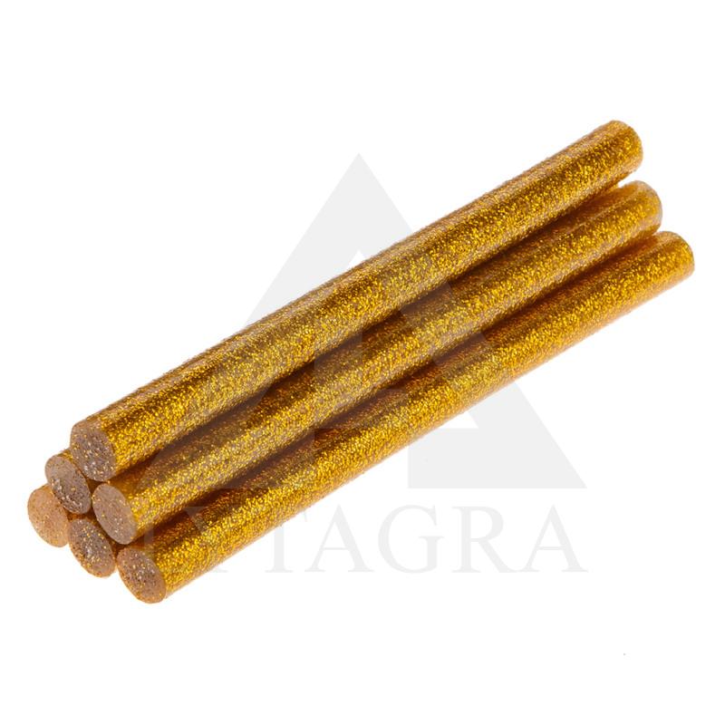 Klijų lazdelės 8x100mm, 6 vnt auksinės