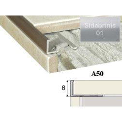 Profilis Effector, užbaigimo A50 sidabrinis 250 cm 8 mm