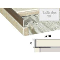 Profilis Effector, užbaigimo A50 natūralus 300 cm 8 mm