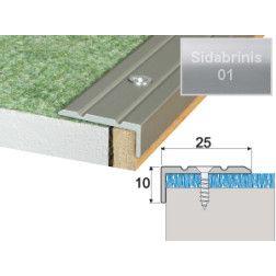 Profilis Effector A31 laiptams sidabrinis 180 cm 25x10 mm