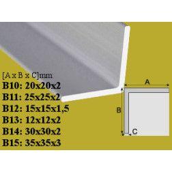 Profilis Effector, kampinis B10 aliuminis 20x20 mm 200 cm