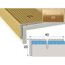 Profilis Effector A33 laiptams auksinis 90 cm 40x20 mm