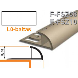 Profilis užbaigimo PVC Aspro, išorinis 10 mm x 2.5 m, baltas
