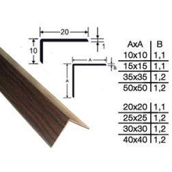 Profilis kampinis nelson ąžuolas, 20x20 mm, 2,70 m