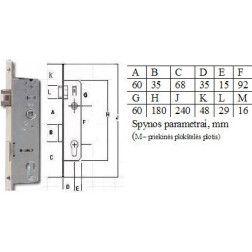 Spyna PVC 35-96 92/35/16mm profilinė