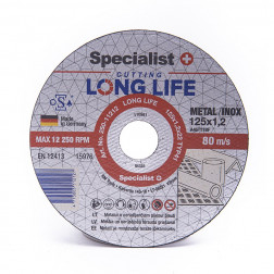 Metalo pj.diskas LONG LIFE 125x1,2x22 mm