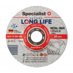 Metalo pj.diskas LONG LIFE 125x0,8x22 mm