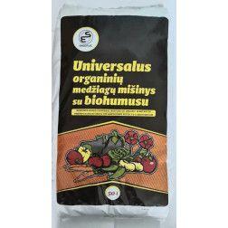 Universalus organinių medžiagų mišinys su biohumusu 50Ltr