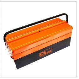 Metal. įrankių dėžė 5 sk., 430 mm