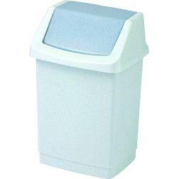 Šiukšliadėžė CLICK-IT, 50 L, sidabrinė