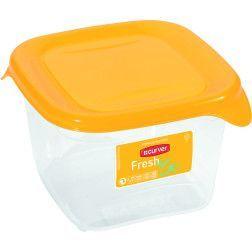 Indelis FRESH & GO, 0,45 L, kvadratinis,geltonas