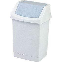 Šiukšliadėžė CLICK-IT, 15 L, marmuro spalvos