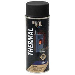 INRAL THERMAL, juodi RAL9011, dažai aerozoliniai atsparūs karščiui