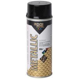 Aerozolinis akrilinis lakas, METALLIC, grafito juoda, INRAL