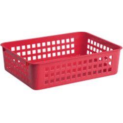 Krepšelis A6,18.5x14x6 cm, raudonas