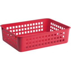 Krepšelis A5, 24.5x18.5x6 cm, raudonas