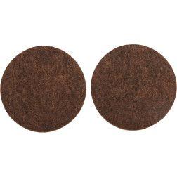 Padukai baldams lipnūs veltinio rudi Vorel d-50mm, 2vnt.