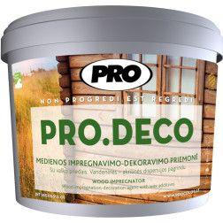 Impregnantas medienai PRO.DECO 1L baltas