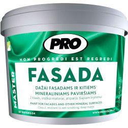 Dažai mineraliniams fasadams FASADA, 10L tamsiai rudos sp.