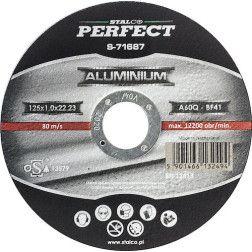 Aliuminio pj. diskas STALCO 125x1mm