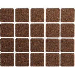 Padukai baldams lipnūs veltinio rudi Vorel 20x20mm, 20vnt.
