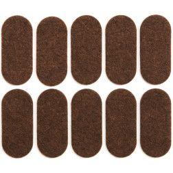 Padukai baldams lipnūs veltinio rudi Vorel 20x45mm, 10vnt.