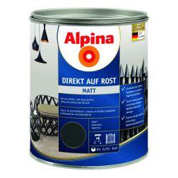 Antikoroziniai dažai  ALPINA DIREKT AUF ROST MATT, RAL7016, 0,75 l, tamsiai pilkos spl., matiniai