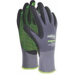 Pirštinės NITRILE FLEX PVC DOTS 9d.
