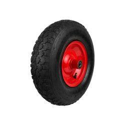 Pripučiamas ratas 4.00-6 2PR raudonu disku ir ašim G71006