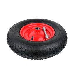 Pripučiamas ratas 4.00-8 2PR raudonu disku ir ašimi G71012